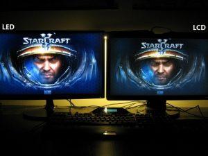 kanan LED dan kiri LCD